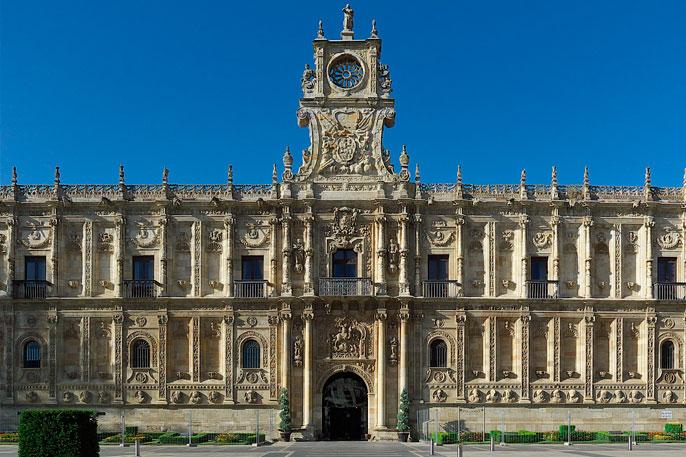 Convento de San Marcos, antiguo hospital para los peregrinos que llegaban a León haciendo el Camino de Santiago