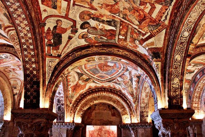 Frescos romanicos de la Real Colegiata de San Isidoro