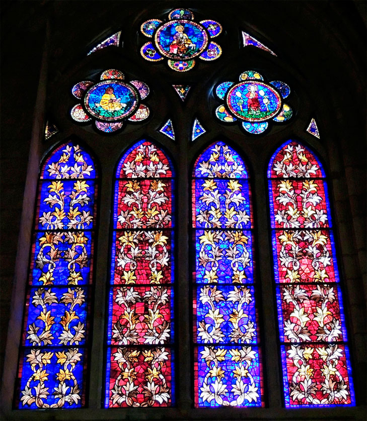 Vidrieras de la Catedral gótica de León.